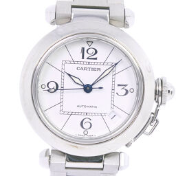CARTIER Cartier Pasha C 35mm W31074M7 Stainless Steel Self-winding Unisex White Dial Watch [Used] A-Rank