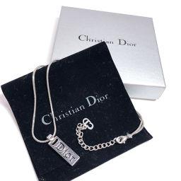 Christian Dior クリスチャンディオール ネックレス メタル シルバー【中古】 レディース