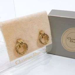 Christian Dior Christian Dior Antique Earrings Metal Gold [Used] Ladies
