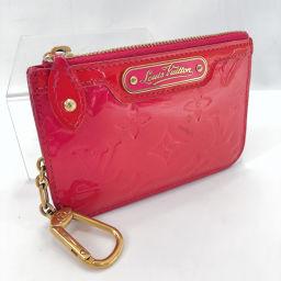 LOUIS VUITTON路易威登零钱包M91669 Pochette Cle Monogram Verni粉红色接近波尔多[Pre]女士