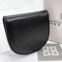 GIVENCHY Givenchy Coin Case Leather Black [Used] Men