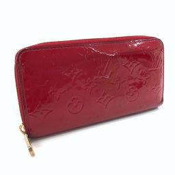 LOUIS VUITTON路易威登钱包M90417拉链钱包圆形拉链Monogram Verni红色[二手]女士