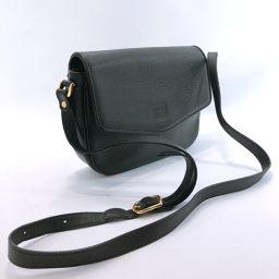 BURBERRY Burberry Shoulder Bag Leather Black [Used] Ladies