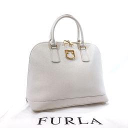 Furla フルラ ハンドバッグ 286247 レザー ホワイト【中古】 レディース