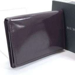 BURBERRY バーバリー カードケース 名刺入れ パテントレザー パープル【中古】 ユニセックス
