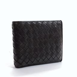 BOTTEGAVENETA fold wallet wallet intrecciato leather brown [used] men