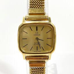 OMEGA オメガ 腕時計 デビル ヴィンテージ クオーツ  ステンレススチール ゴールド ゴールド文字盤【中古】 レディース