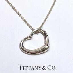 TIFFANY&Co. ティファニー ネックレス オープンハート エルサ・ペレッティ シルバー925 シルバー【中古】 レディース