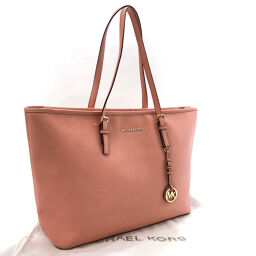 Michael Kors Michael Kors Tote Bag 30T5GTVT2L Jet Set Travel Leather Pink [Used] Ladies
