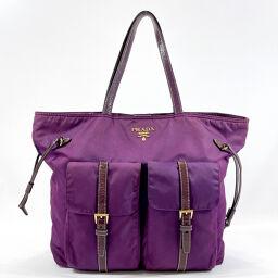 PRADA Prada Tote Bag BR4058 Nylon Purple [Used] Ladies