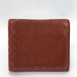 BOTTEGAVENETA Bottega Veneta Bi-Fold Wallet Intrecciato Calf Brown [Used] Men's