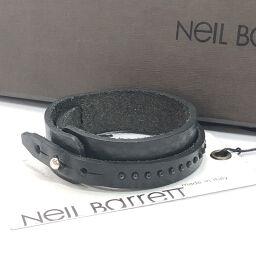NEIL BARRETT ニールバレット ブレスレット BBR02 レザー ブラック【中古】 メンズ