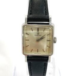 OMEGA オメガ 腕時計 Cal244 手巻き  ヴィンテージ ステンレススチール/レザー シルバー ブラック 手巻き シルバー文字盤【中古】 レディース