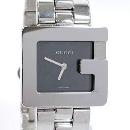 GUCCI グッチ 腕時計 3600J クォーツ ステンレススチール シルバー スイス製クオーツ ブラック文字盤【中古】 メンズ