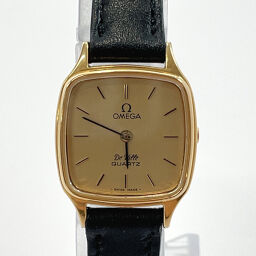 OMEGA Omega Watch Devil Vintage Stainless Steel Gold 1350 Engraved Gold Dial [Used] Ladies