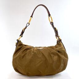 PRADA Prada Shoulder Bag BR3795 One Shoulder Nylon Khaki [Used] Ladies