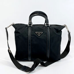 PRADA Prada Handbag Nylon Black [Used] Ladies