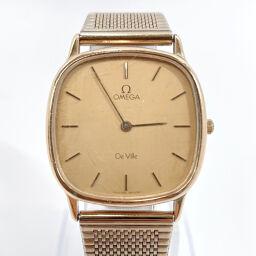 OMEGA オメガ 腕時計 デビル クオーツ ヴィンテージ ステンレススチール ゴールド スイス製クオーツ ゴールド文字盤【中古】 レディース