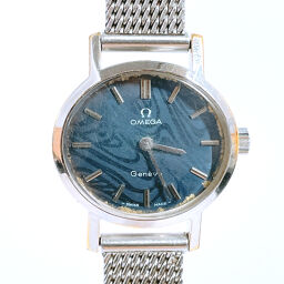 OMEGA Omega Watch 620 Manual Winding Vintage Stainless Steel Silver Manual Winding Blue Dial [Used] Ladies