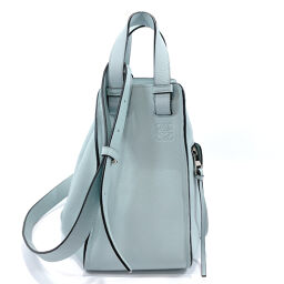 LOEWE Loewe Handbag Hammock Small 2way Leather Light Blue [Used] Ladies