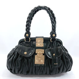 MIUMIU Miu Miu Handbag Materasse Leather Black [Used] Ladies