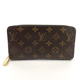 LOUIS VUITTON Louis Vuitton Long Wallet M60017 Zippy Wallet Monogram Canvas Brown [Used] Ladies