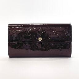 LOUIS VUITTON Louis Vuitton Wallet M93524 Portofeuille Sarah Monogram Verni Purple (Amarant) [Used] Ladies