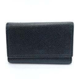 BVLGARI Bvlgari key case 6 consecutive leather black [used] unisex