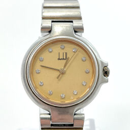 Dunhill Dunhill Watch Millennium 12 Point Diamond Quartz Stainless Steel Gold Silver Quartz Gold Dial [Used] Ladies