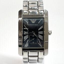<html>    <body>   Emporio Armani エンポリオ・アルマーニ 腕時計 AR.0268 クォーツ ステンレススチール シルバー クオーツ ブラック文字盤【中古】 メンズ        </body> </html>
