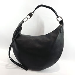 GUCCI Gucci Shoulder Bag 95726 Leather Black [Used] Ladies