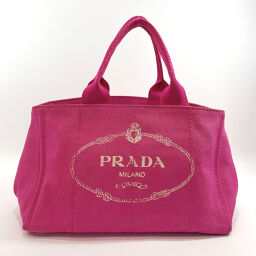 PRADA Prada Tote Bag Kanapa Canvas Pink [Used] Ladies
