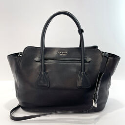 PRADA Prada Tote Bag BN2611 2way Leather Black [Used] Ladies