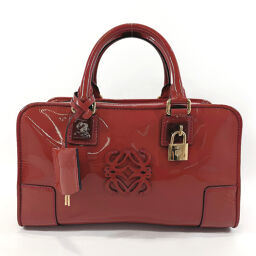 LOEWE Loewe Handbag 339.37.A03 Amazona 28 Patent Leather Red Gold Metal Fittings [Used] Ladies
