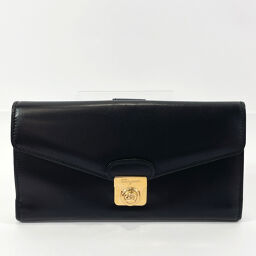 Salvatore Ferragamo Salvatore Ferragamo Long Wallet Vintage Leather / Gold Hardware Black Gold [Used] Ladies