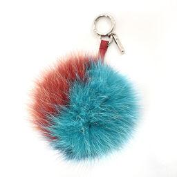 FENDI FENDI Keychain Pompon Charm Fox / Leather Multicolor [Used] Ladies