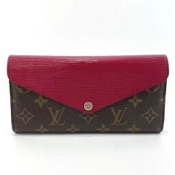 LOUIS VUITTON Louis Vuitton Wallet M60498 Portofeuil Marie Luron Epi Leather / Monogram Canvas Brown Purple [Used] Ladies