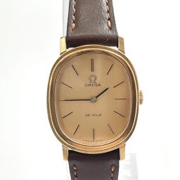OMEGA Omega Watch 625 Devil Manual Winding Vintage Stainless Steel / Leather Gold Manual Winding Gold Dial [Used] Ladies