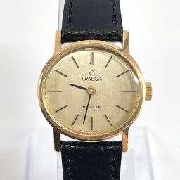 OMEGA Omega Watch Devil Manual Winding Vintage Stainless Steel / Leather Gold Manual Winding Gold Dial [Used] Ladies