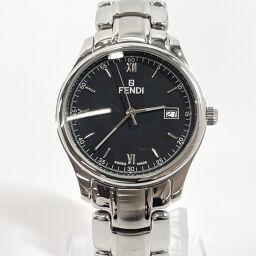 FENDI Fendi Watch 210G Quartz Date Stainless Steel Silver Quartz Black Dial [Used] Men's