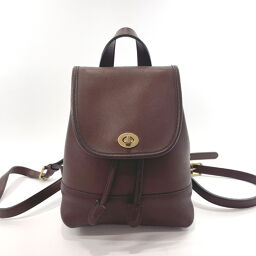 COACH Coach Luc Daypack Old Coach Leather Dark Brown [Used] Ladies