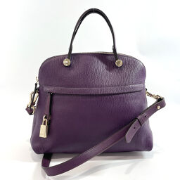 Furla Furla Handbag Piper 2way Leather / Gold Hardware Purple [Used] Ladies