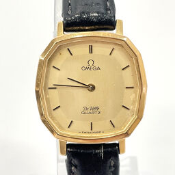 OMEGA Omega Watch Devil Quartz Vintage Stainless Steel Gold Gold Dial [Used] Ladies