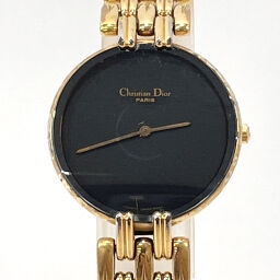 Christian Dior Christian Dior Watch 46 154-2 Bagilla Quartz Stainless Steel Gold Quartz Black Dial [Used] Ladies