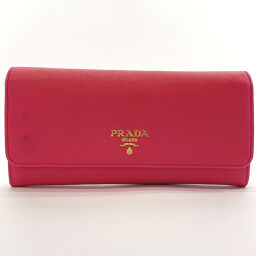 PRADA Prada Long Wallet Saffiano Leather Pink [Used] Ladies