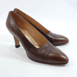 HERMES Hermes Pumps Leather Brown [Used] Ladies