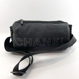 CHANEL Shoulder Bag Chanel Sports Rubber / Nylon Black White [Used] Ladies