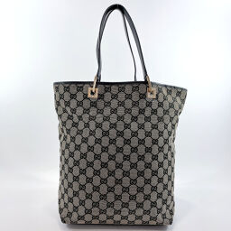 GUCCI Gucci Tote Bag 002.1098 GG Canvas / Leather Black [Used] Ladies