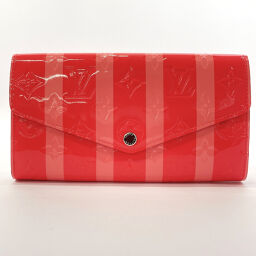 LOUIS VUITTON Louis Vuitton Purse Portofeuil Sara Monogram Verni Pink [Used] Ladies