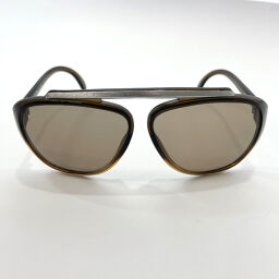 Christian Dior Christian Dior Sunglasses 2059 11 Vintage Synthetic Resin Khaki Silver [Used] Ladies